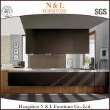 N u. L einfacher Entwurfs-Küche-Schrank mit komplettem Griff