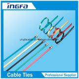 La bola de la atadura de cables del acero inoxidable bloqueó con el color de azul rojo negro cubierto