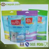 Tribune op De Verpakkende Zakken van het Voedsel voor huisdieren met Aangepaste Druk