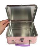 مقبض قصدير صندوق صنع وفقا لطلب الزّبون معدن قصدير وعاء صندوق لأنّ ترقية