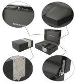 Luxuxgroße sondern Uhr-Speicher-Kohlenstoff-Faser-hölzernen Kasten mit kundenspezifischem Firmenzeichen aus