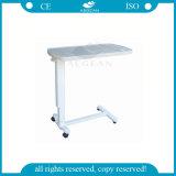 침대 테이블에 침묵하는 바퀴 고도 조정가능한 병원을%s 가진 AG Obt002