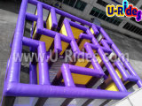 Purple Color Inflatable Maze para niños y adultos