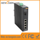 4 1 da rede Ethernet do gigabit do SFP interruptor industrial de Tx e