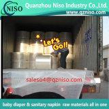 Windel Topsheet materielle Schleppseil-Schicht lamellierter prägender hydrophiler Vliesstoff