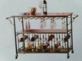 Estante de los panaderos de la cocina con el estante de las botellas para el estante de visualización casero