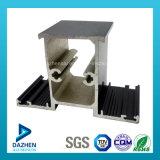 Profil en aluminium en aluminium de cadre de tissu pour rideaux de guichet avec la poudre enduite
