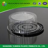 Ясный пластичный контейнер купола торта хлебопекарни