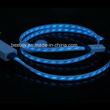 LED que destella la iluminación TPE cargador de datos del USB Cable de la sinc.