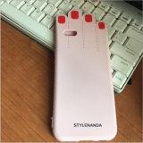caixa bonita do telefone de pilha do silicone da palma do prego do batom da série do caso 3ce Makeups de Phoen do iPhone para a caixa do telefone (XSF-074) (XSF-075)