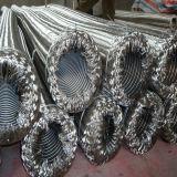 Mangueira metálica flexível trançada em aço inoxidável