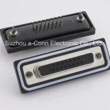 Conector rectangular de la prueba D-SUB del agua