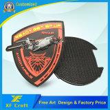 Способа ярлыка одежды логоса воиска 3D промотирования значок заплаты PVC изготовленный на заказ резиновый для одежды (XF-PT04)