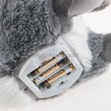 Orelha longa brinquedos eletrônicos enchidos do coelho do luxuoso do luxuoso
