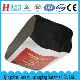 Línea inferior cuadrada de las bolsas de papel con el papel de aluminio para la carne asada