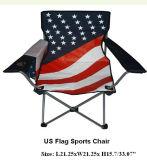 미국은 패턴 비치용 의자의 인쇄를 표시한다
