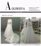 Uma linha vestido de casamento nupcial da amostra real brandnew