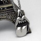 Personalidad de la joyería colgante collar de hombres de acero de titanio Moda