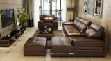 Sofá moderno del cuero del Coner del almacenaje de combinación de la sala de estar (HX-SL015)
