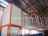 Cadena de producción de arriba de la capa del polvo del transportador