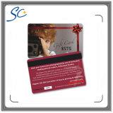 Карточка подарка PVC печатание специального предложения изготовленный на заказ для промотирования дела