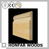 moulage de bordage en bois solide de 21mmx215mm pour l'Europe