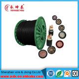 Conductor de cobre de la base de Yjv 3+2 aislado/cable de transmisión de la envoltura