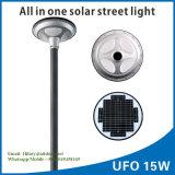 2017太陽動きセンサーライト屋外の庭の街灯15WのAlU15