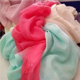 Bufanda polivinílica ligera de Jersey Hijab del algodón de las mujeres