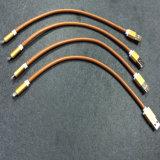 Câble de caractéristiques de remplissage en cuir coloré de l'unité centrale USB pour des accessoires de téléphone mobile