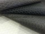 Couro sintético do PVC do teste padrão de pano para a mobília do sofá com cópia