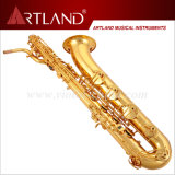 Sassofono professionale del baritono di rivestimento dorato chiave della lacca di eb (ABS5506)