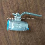 La norme ANSI a modifié le robinet à tournant sphérique d'extrémité de soudure de l'acier inoxydable F316