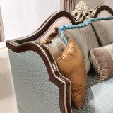 Il sofà di legno classico del tessuto del velluto con la Tabella ha impostato per il salone