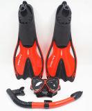 Strumentazione di immersione con bombole, vestito di immersione subacquea per la mascherina, presa d'aria, alette
