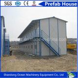 Casa prefabricada económica de la estructura de acero para acampar de trabajo