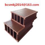 Естественная деревянная палуба полости WPC текстуры напольная для сада