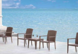 Rattan 2-Chairs e Rattan 1-Table Furniture-1 ao ar livre