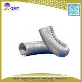 Single-Wall 물결 모양 플라스틱 망원경 수관 PE-PP-PVC 압출기 생산 라인