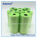 Qualität HDPE Plastikhaustier-Abfall-Beutel-biodegradierbarer Hundepoop-Rollenbeutel