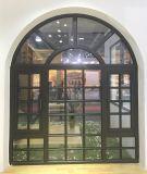 Porta de painel de vidro do arco circular