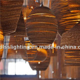 Estilo Vintage Papel ondulado pendurado pendente luzes para decoração