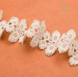 Garniture de dentelle en coton brodé à la broderie de haute qualité