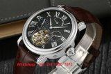 OEM High-End het Modieuze Automatische Horloge van de Beweging met de Echte Riem van het Leer voor Mensen Fs547