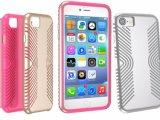 Tampa real do telefone de pilha da fibra do carbono para o iPhone 8