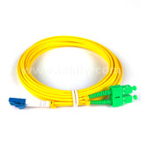 0.2dB LC / Sc / St / FC / Mu Single Mode Duplex LSZH / PVC Patch de fibra óptica