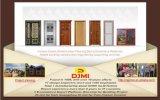 Modèle intérieur en bois simple de porte affleurante de Fasionable avec le blocage de porte coulissante