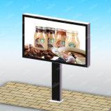 Tabellone per le affissioni di pubblicità solare esterno di illuminazione della città del segno