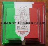 Travamento de canto da caixa da pizza do cartão para a dureza (CCB120)