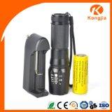 """Lumière réglable imperméable à l'eau de torche de DP de faisceau de """"copies claire"""" de Xm-L T6 DEL 5 de service opportun"""